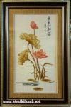 Sen vàng, tranh thêu chữ thập- TCT58