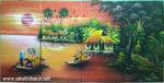 Tranh sơn mài, Bến sông con đò- SM052