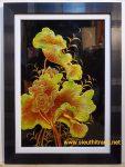 Tranh sơn mài tĩnh vật – Hoa sen-sm152