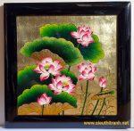 Tranh sơn mài đắp nổi Hoa Sen-sm164
