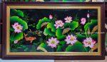 Tranh sơn mài cao cấp-Hoa sen cá chép – SM182