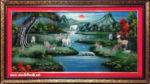 Tranh sơn mài khảm trai ,Tùng Lộc – SM218