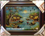 7 mẫu tranh vẽ sơn mài đồng quê HCM -SM225
