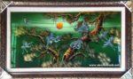 Tùng hạc trường xuân, tranh khảm trai sơn mài-SM276