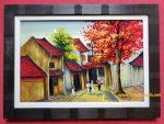 Phố Cổ Hà Nội – Tranh sơn mài -Sm311