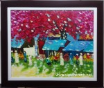 Tranh sơn dầu mùa thu Hà Nội-s133