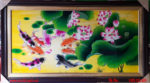 Tranh sơn mài , Cửu ngư quần hội – SM246