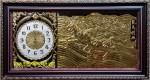 Tranh đồng-đồng hồ song mã -a134