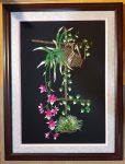 Tranh thêu tay nghệ thuật- Hoa lan-t150