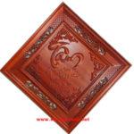 Tranh gỗ Hương thư pháp chữ Tâm -TG150