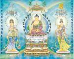 Phật Tam Thánh ( in dầu ép foam -904 )