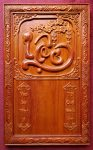 Tranh đốc lịch gỗ hương đục nổi – Chữ Lộc -TG030