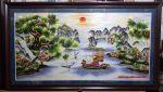 Tranh thêu tay-Thuận buồm xuôi gió-t180