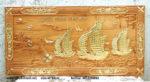 Tranh gỗ gõ đỏ, thuận buồm xuôi gió mạ vàng -TG236