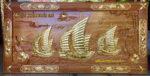Tranh gỗ gõ đỏ vác vàng, Thuận buồm xuôi gió -TG057