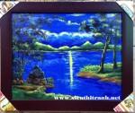 Tranh sơn dầu, Tình yêu đêm trăng- S186
