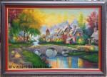 Tranh sơn dầu phong cảnh châu âu -s205