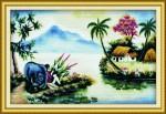 Mẫu thêu-chăn trâu học bài-dlh222151
