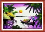 Mẫu thêu-miền quê sông nước-DLH222141