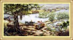 Tranh chữ thập-đồng quê Việt Nam-dlh222138