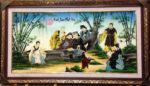 Tranh vẽ sơn mài, Trúc Lâm Thất Hiền – SM240