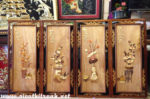 Tranh gỗ Bơmu nghệ thuật, Tứ Bình-TG090