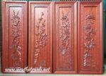 Tranh gỗ hương chạm nổi Tứ Quý -TG029