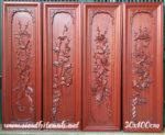 Tranh gỗ hương bộ tứ quý bốn mùa – TG070