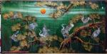 Tranh sơn mài, Tùng Hạc Vạn Niên -SM254