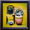 Tranh sơn mài tĩnh vật hoa -sm147