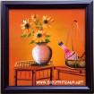 Tranh sơn mài tĩnh vật hoa -sm152