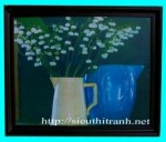 Tranh ép gỗ-Bình bông-v25