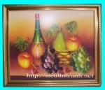 Tranh ép gỗ, tĩnh vật trái cây – V028