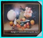 Tranh ép gỗ-tĩnh vật hoa quả-v32