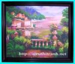 tranh ép gỗ-lâu đài cổ tích-v33
