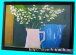 Tranh ép gỗ-tĩnh vật hoa-v38