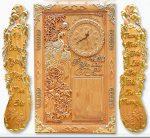 Bộ tranh gỗ đốc lịch điêu khắc , Vợ Chồng -TG253
