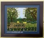 Tranh thêu tay ,vườn hoa -T297