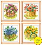 Tranh chữ thập bốn mùa hoa nở