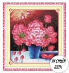 Hoa thắm khoe sắc-mẫu thêu chữ thập-ya407
