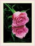 Mẫu thêu-hoa hồng đỏ-yh331