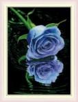 Mẫu thêu hoa hồng tím-yh332
