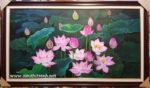 Tranh sơn dầu, Hoa sen -S240